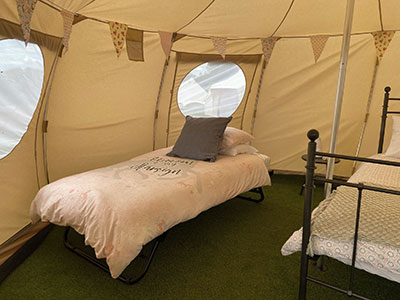Glamping Freckles Bell tent Kent